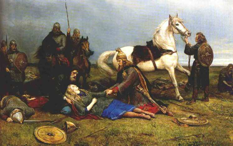 Hervor dying after the Battle of the Goths and Huns.